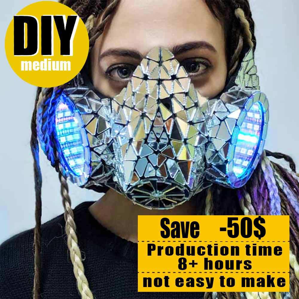 Mirror Infinity Mask Led Respirator Quarantine Diy Offer Light Solutions Etere By Etereshop