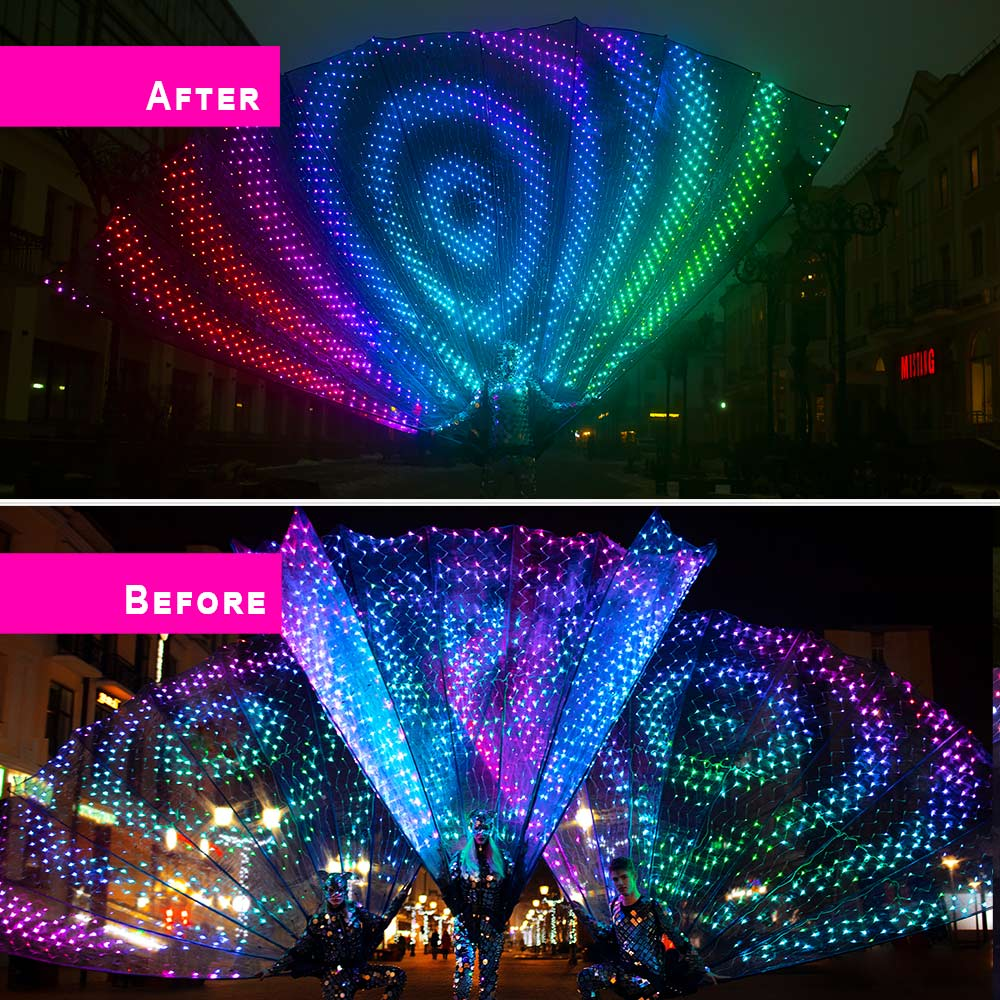 Smart Pixel Peacock Fantail with 12 LEDs 12.12 Meters High